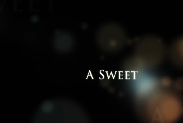 create an sweet and romantic piano video