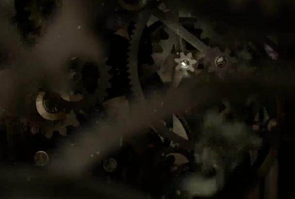 create GEAR cogs clockwork steam mechanism reveal video