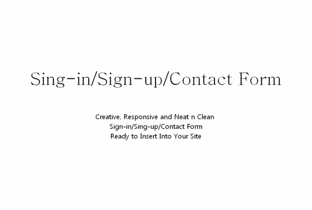 design signin and signup form