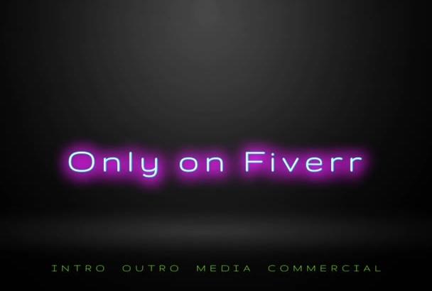 create edit your custom video intro outro