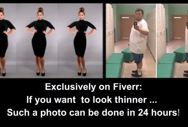 make a body slim on your image