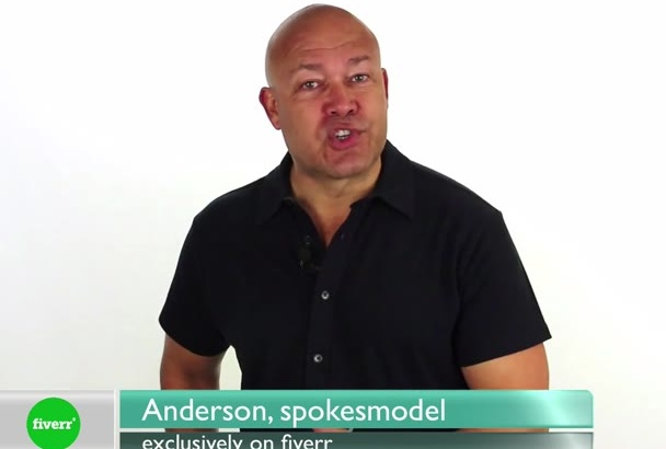 be your male HD video spokesperson spokesmodel white background