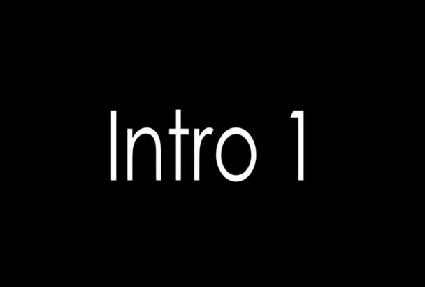 produce a fresh customized video intro