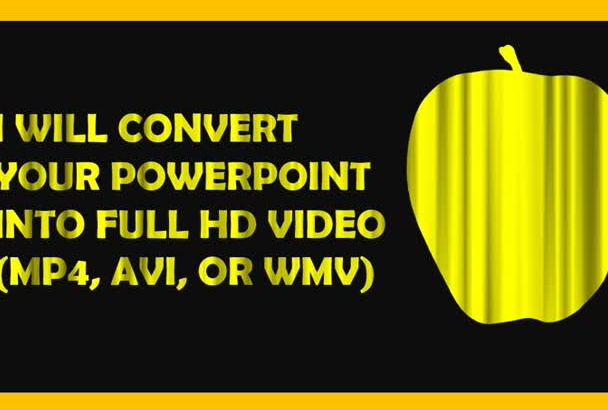 convert your PowerPoint into Full HD Video