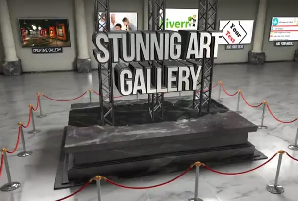 create you this Stunning Art GALLERY Video Intro