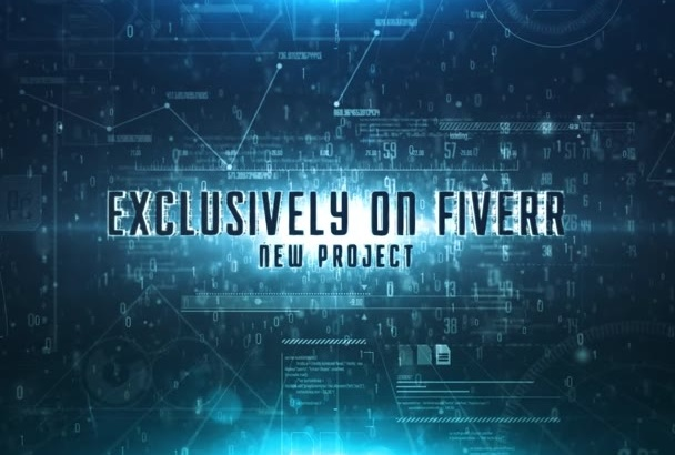 intro trailer element 3d logo or text