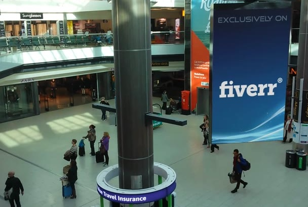 add your content to this AD screen in london gatwick airport