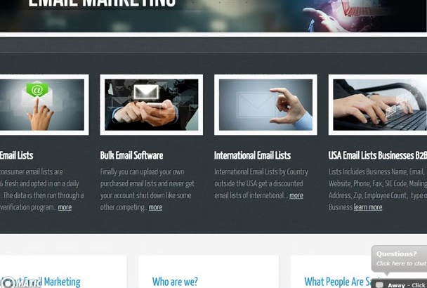 provide 1000 category targeted consumers email address for marketing