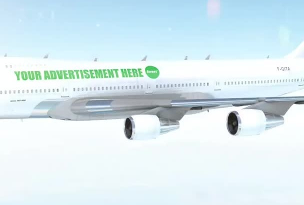 advertise your message, logo on a airplane