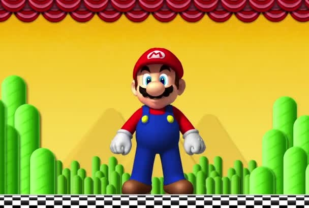 have Mario say your message in English or Spanish on VIDEO