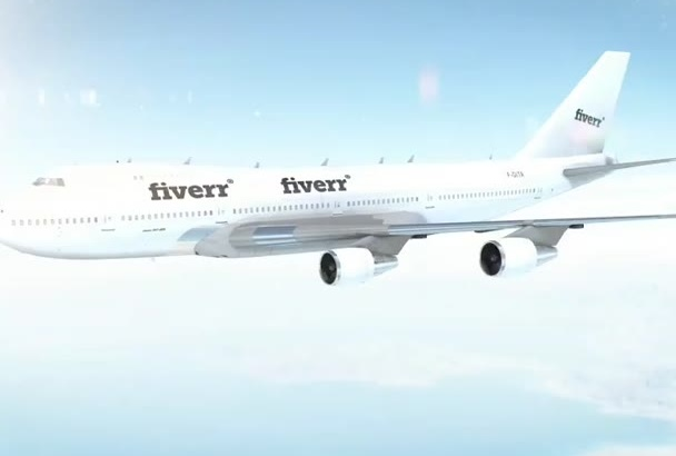 put your Text or Logo on a flying Jumbo Jet