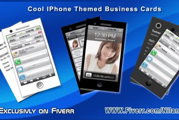 design a Print Ready  iPhone themed Business CARD