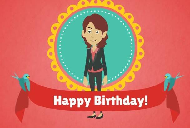 create a BIRTHDAY gift video