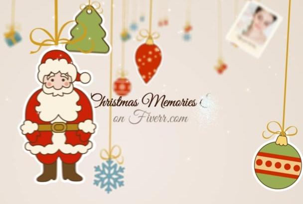 create Beautiful  Christmas memories holiday slideshow