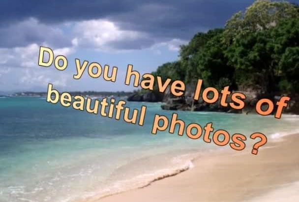 create a slideshow with photos
