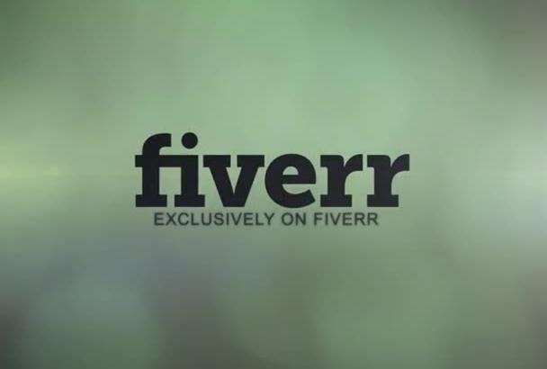 design this AMAZING animated logo video intro outro