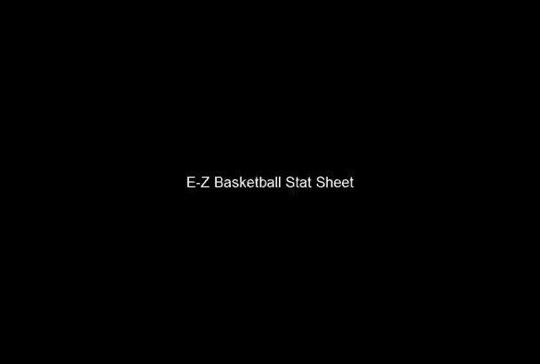 send you an easy to use Basketball team statistics Excel template for a coach