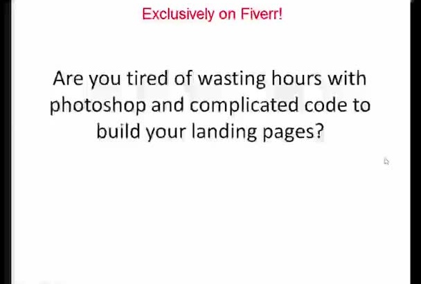 create a custom HTML landing page for your wordpress site