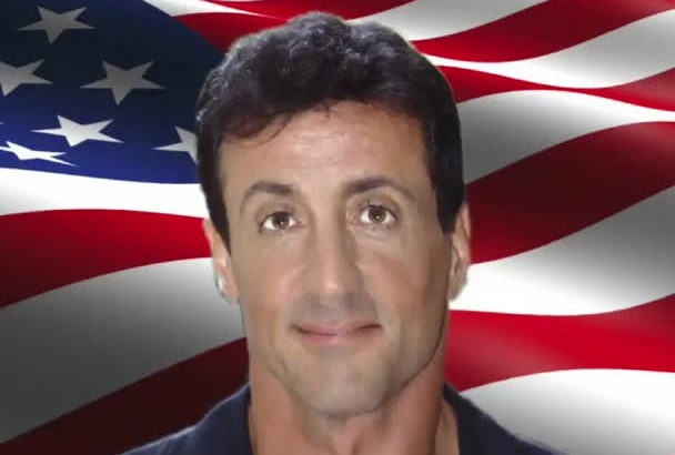 do a Sly Stallone Voice and Video