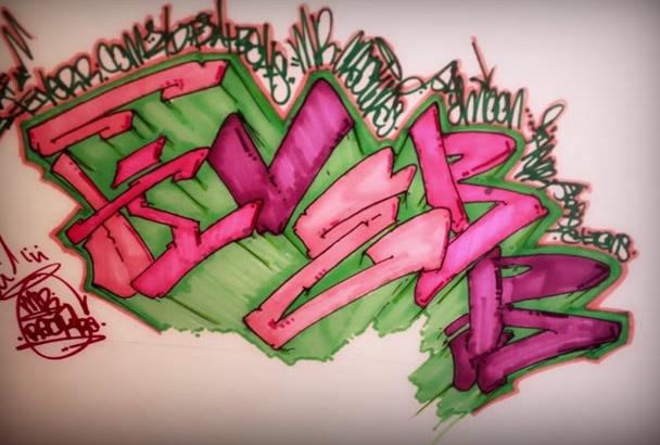 write custom Graffiti Art
