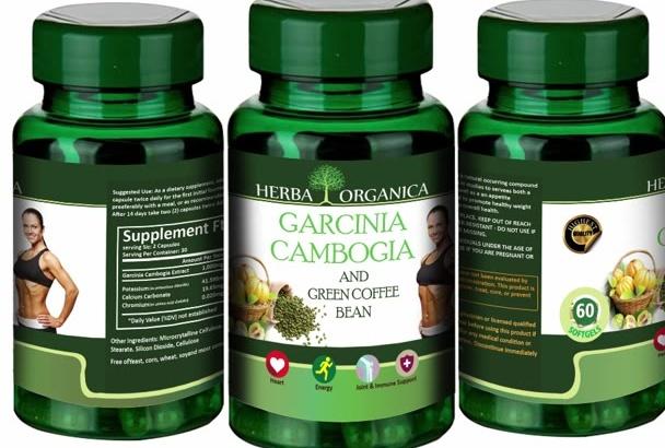 design Garcinia Product Label, Label Design