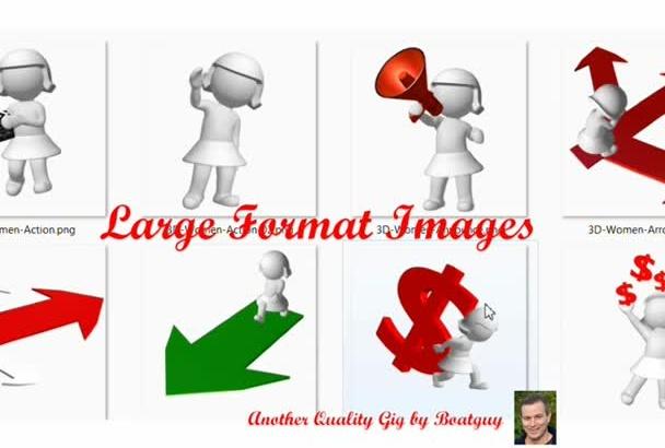 send You 100 PROFESSIONAL 3D Female Graphic Charectors