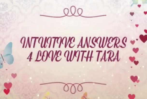 do an AMAZING Audio One Love Question Intuitive Reading