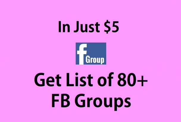 provide You Top Facebook Group List Limited Time Offer