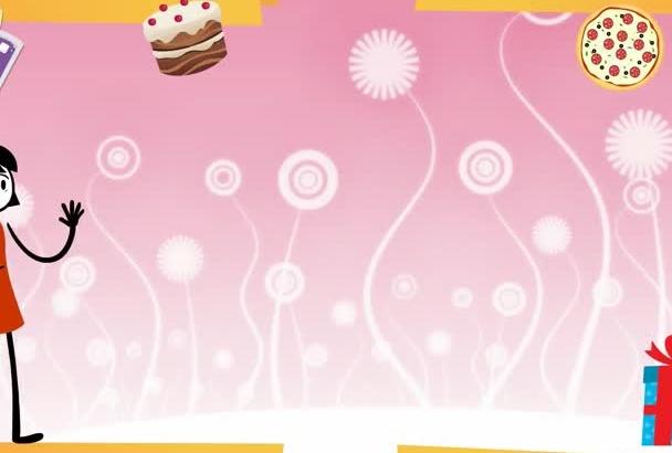 create a birthday party invitation video