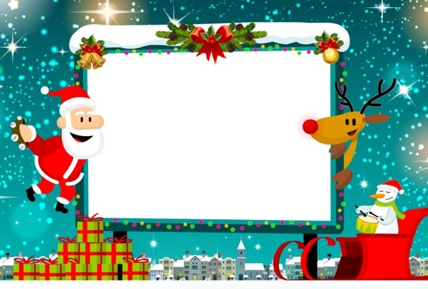 display your message on this cute greeting card for Christmas