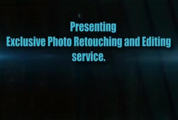 do Professional PHOTOSHOP retouching and editing