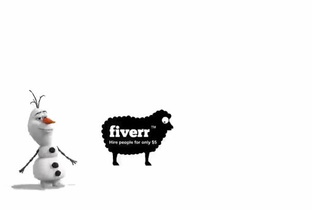 make Olaf from Frozen dance with your logo or message