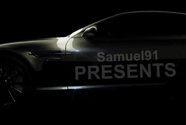 add your text and logo to this car commercial