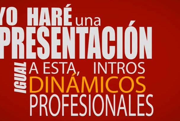 hacer intro o presentación profesional