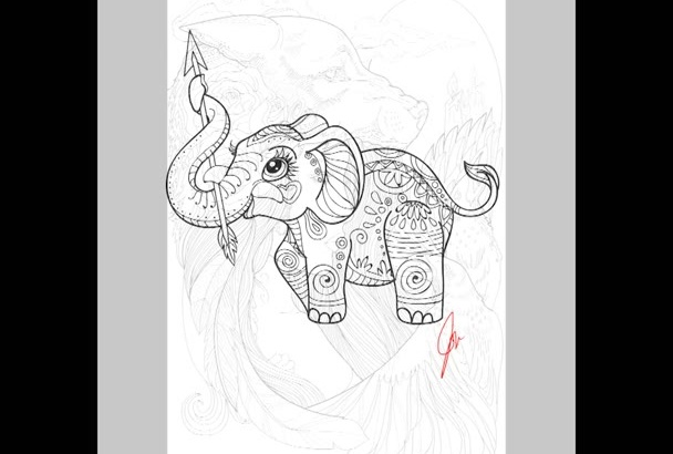 illustrate your coloring book