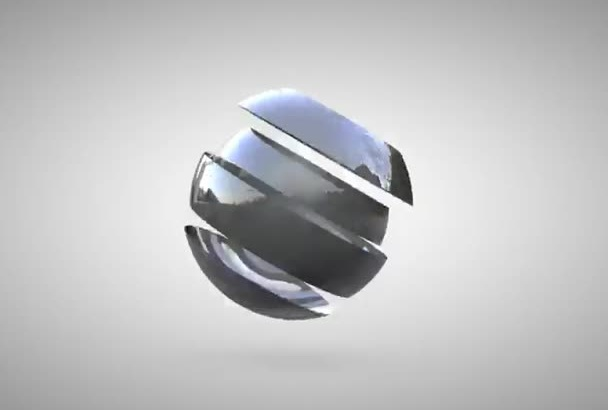 make your video intro with 3D ball