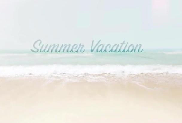 create a Vacation Photo Video Album
