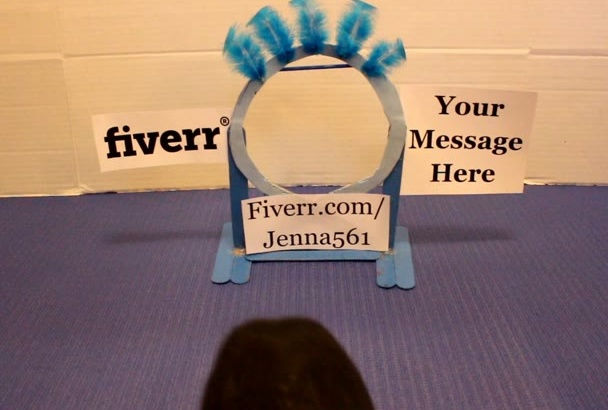 have my guinea pig jump through a hoop with your message
