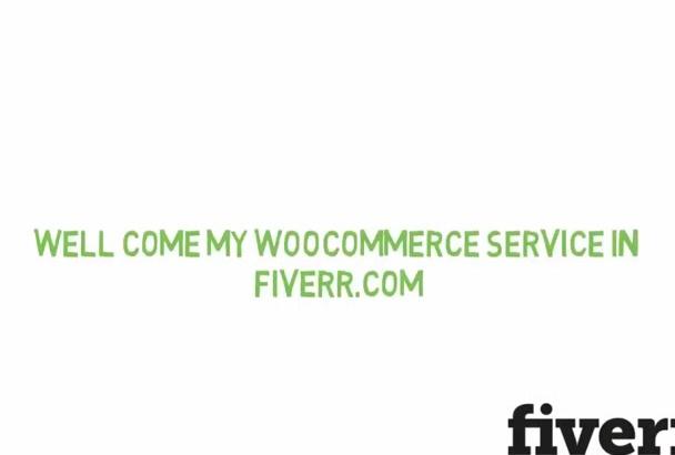 build wordpress Woocommerce website