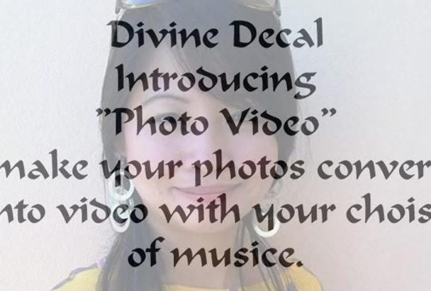 make photo video with music for you