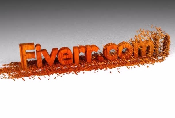 create a Wood Chipping Style text animation