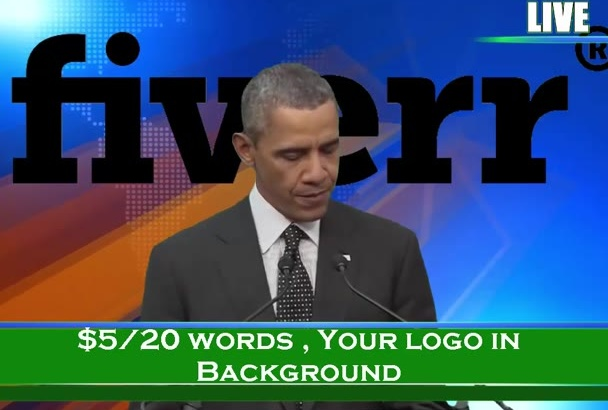 do an Obama Impersonation with Obama and Your Logo