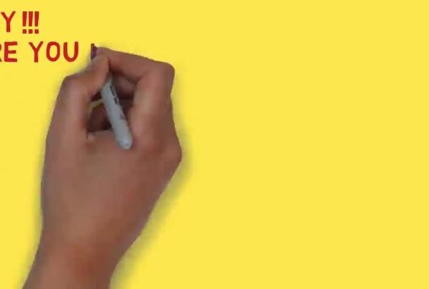do Eye catching White Board Animation