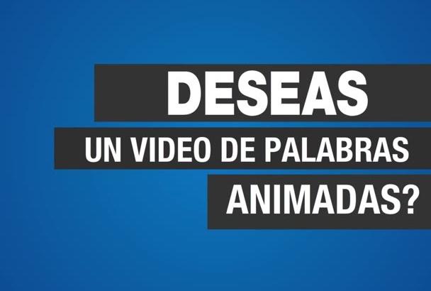 hacer un Video TIPOGRÁFICO animado