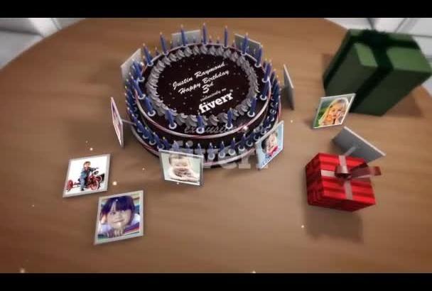 make special birthday greeting video