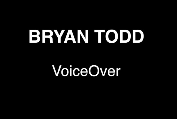create a professional voiceover for you