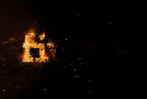 create Fire Gold Intro Logo or Text with Sound