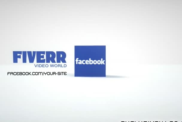 make an intro fb link and logo with 3D cube 0023D