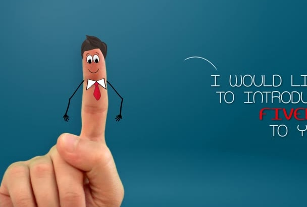 make a funny explainer video with a finger