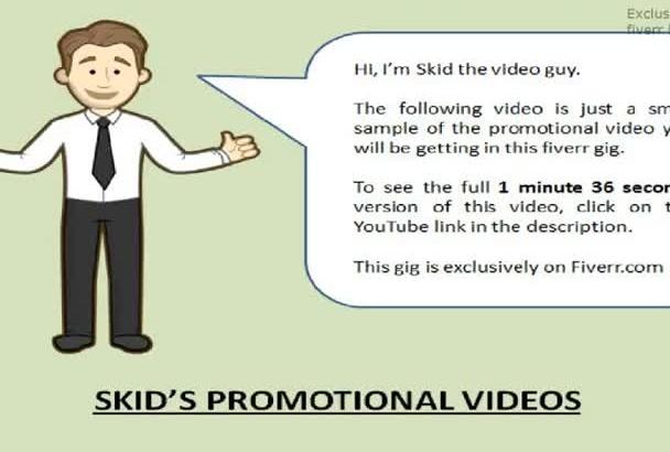 provide a mobile web service promotional video